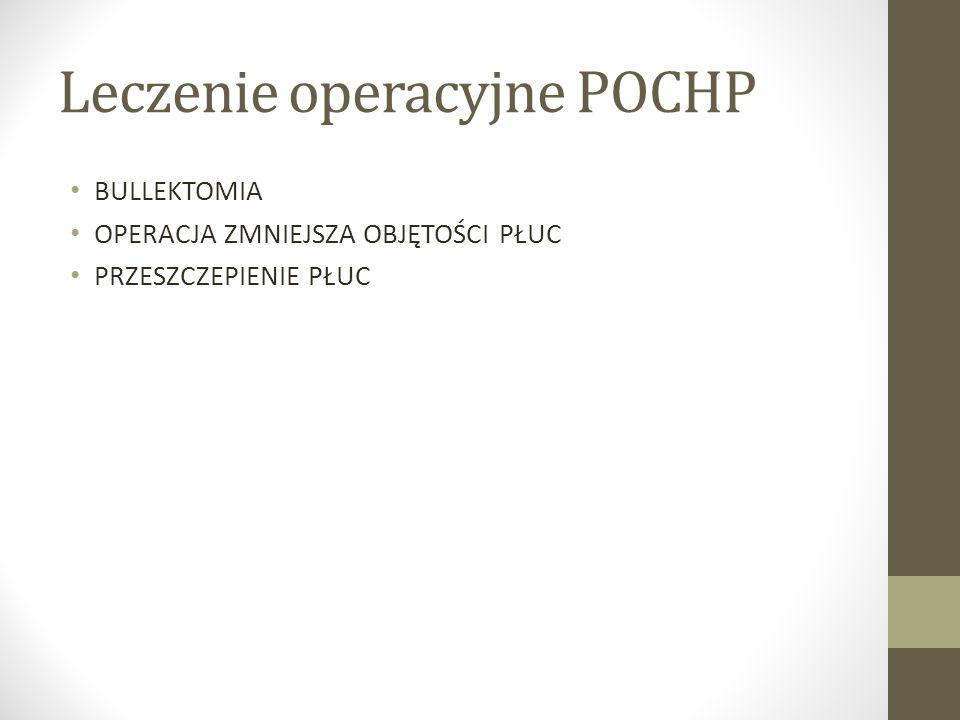 Leczenie operacyjne POCHP