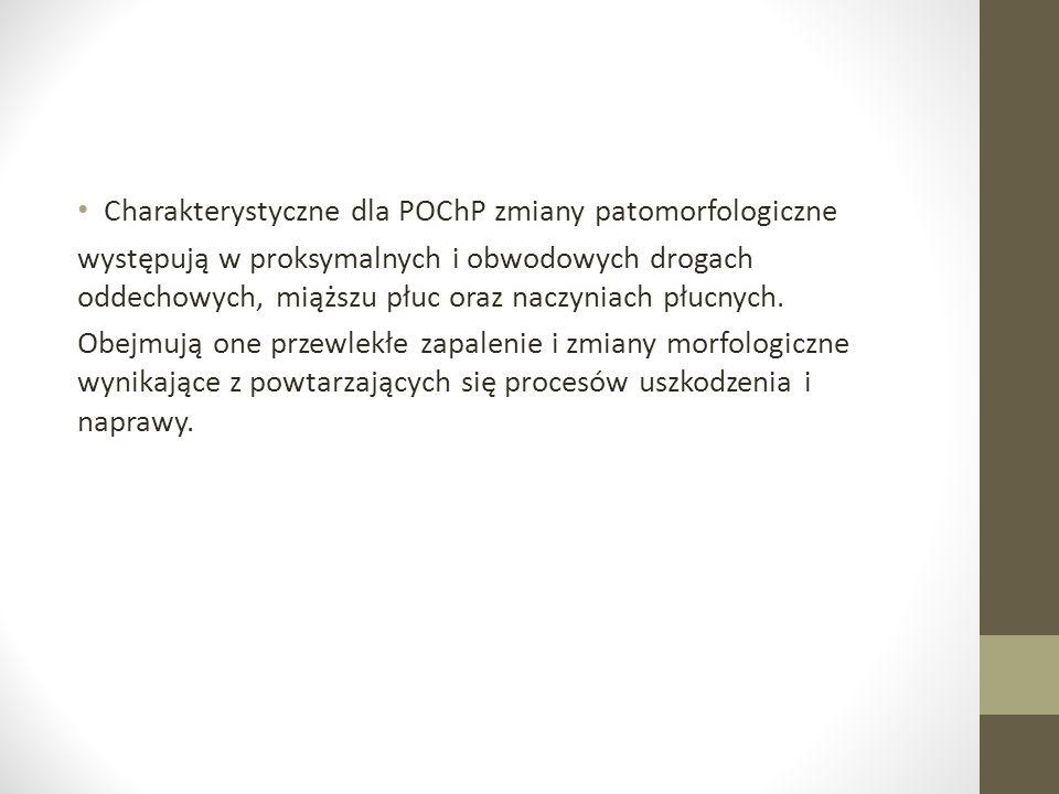 Charakterystyczne dla POChP zmiany patomorfologiczne