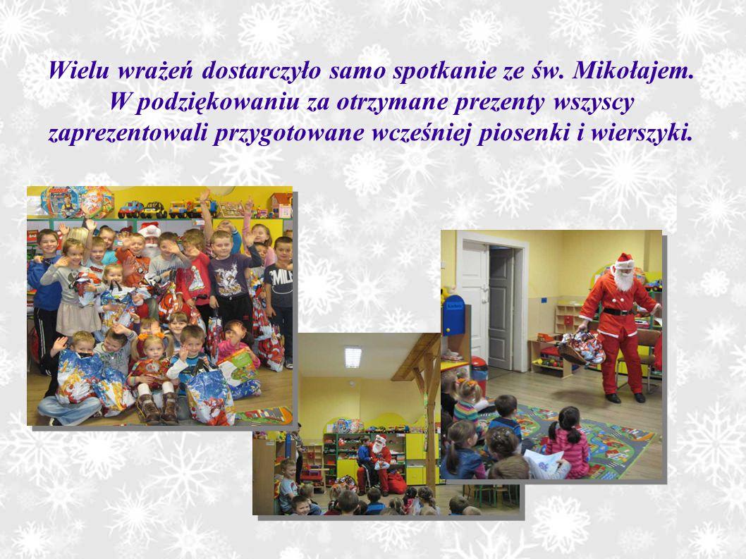 Wielu wrażeń dostarczyło samo spotkanie ze św. Mikołajem