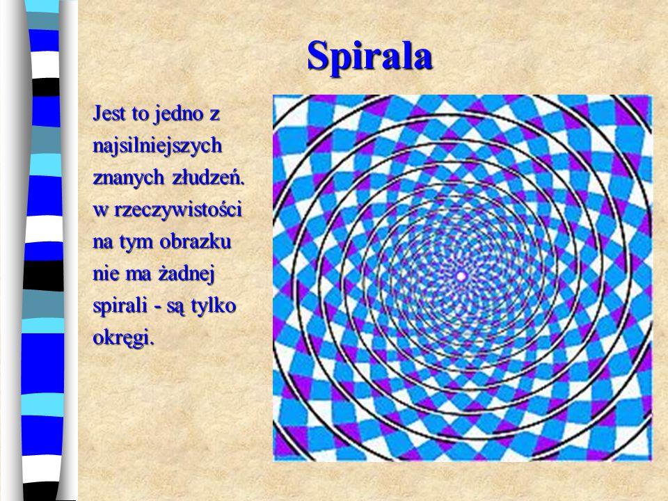 Spirala Jest to jedno z najsilniejszych znanych złudzeń.
