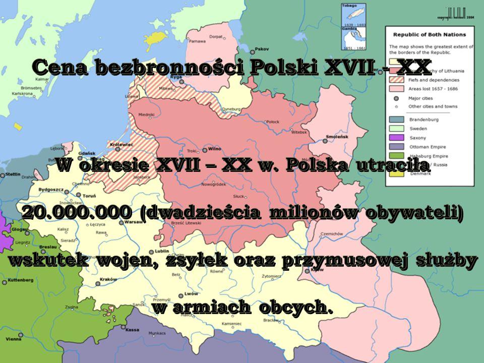 Cena bezbronności Polski XVII - XX