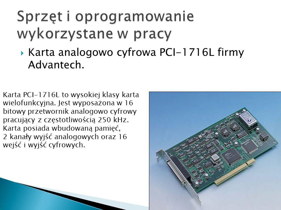 Sprzęt i oprogramowanie wykorzystane w pracy