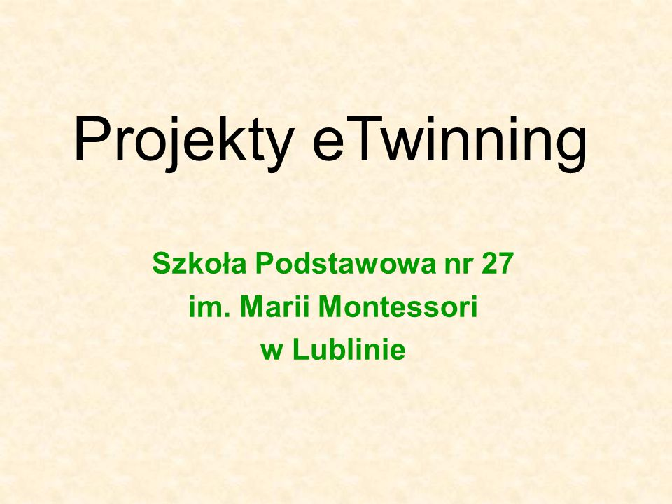 Szkoła Podstawowa nr 27 im. Marii Montessori w Lublinie