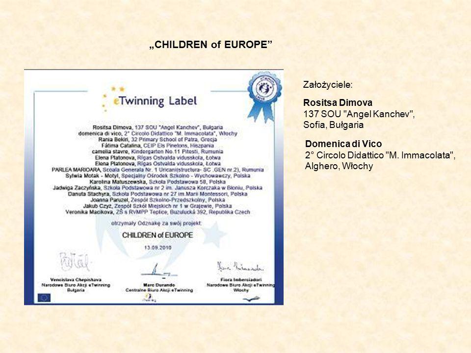 """""""CHILDREN of EUROPE Założyciele: Rositsa Dimova"""