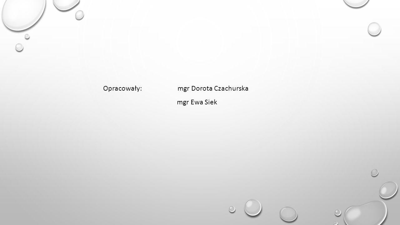Opracowały: mgr Dorota Czachurska