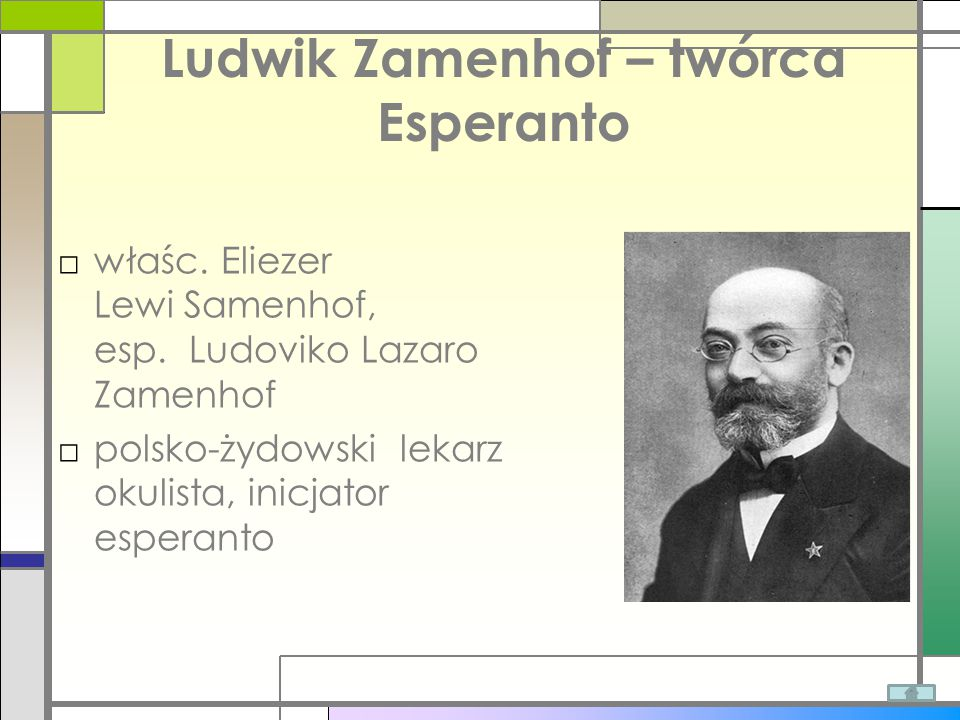 Ludwik Zamenhof – twórca Esperanto