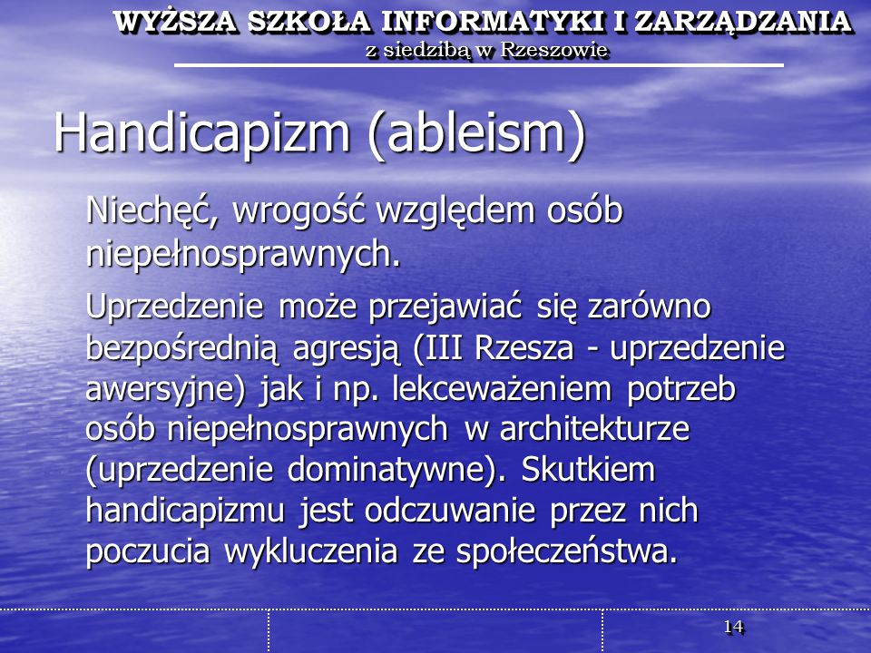 Handicapizm (ableism)