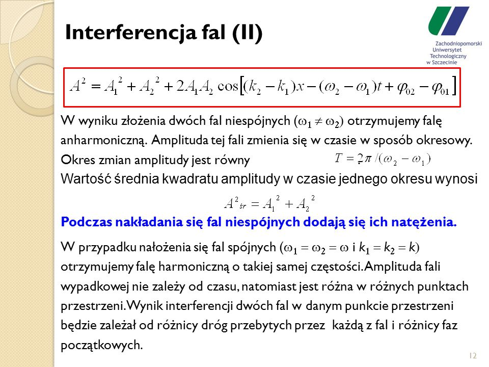Interferencja fal (II)