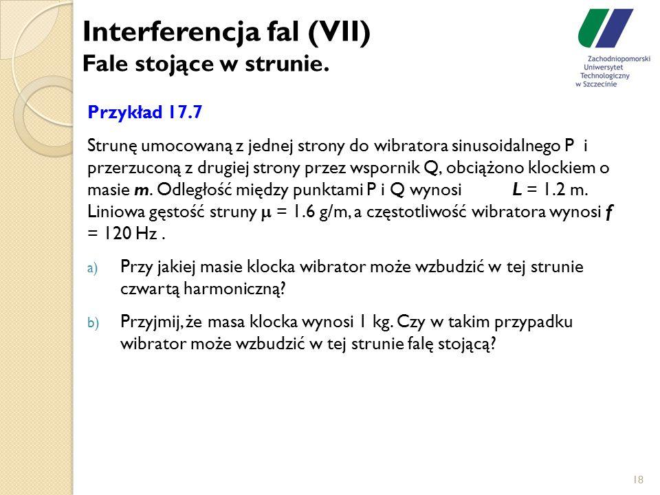 Interferencja fal (VII) Fale stojące w strunie.