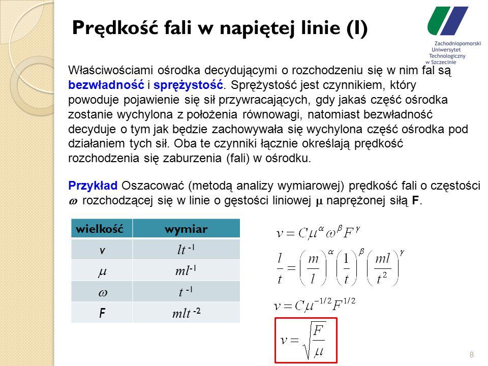 Prędkość fali w napiętej linie (I)