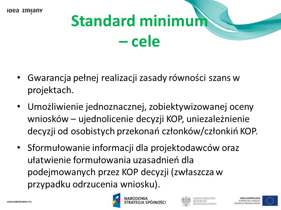 Standard minimum – cele