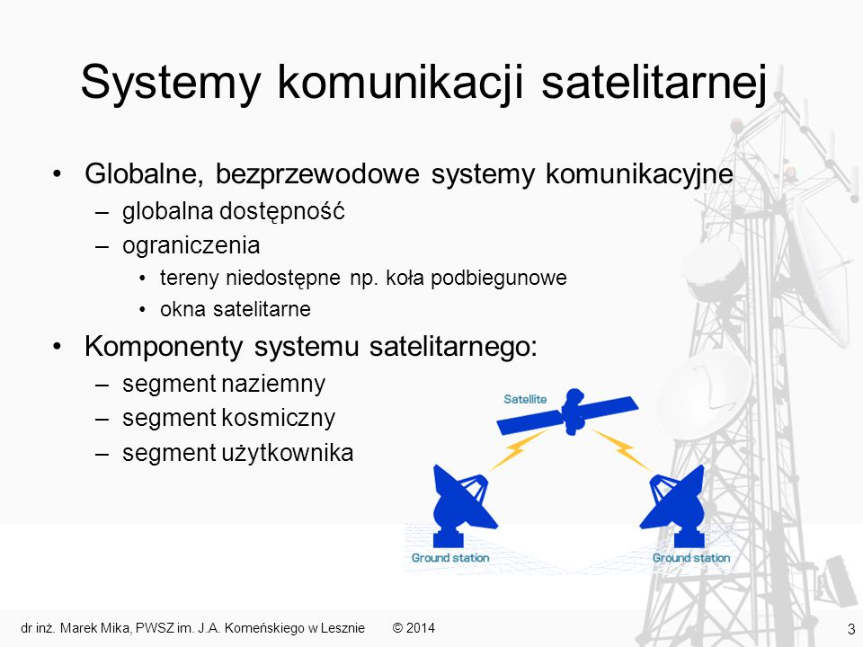 Systemy komunikacji satelitarnej