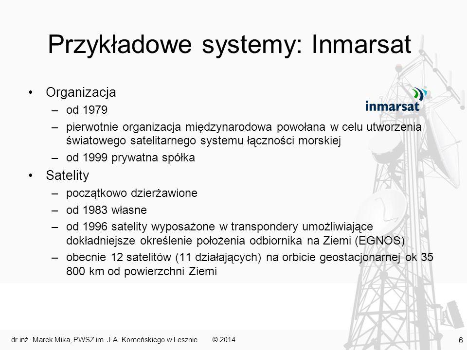 Przykładowe systemy: Inmarsat