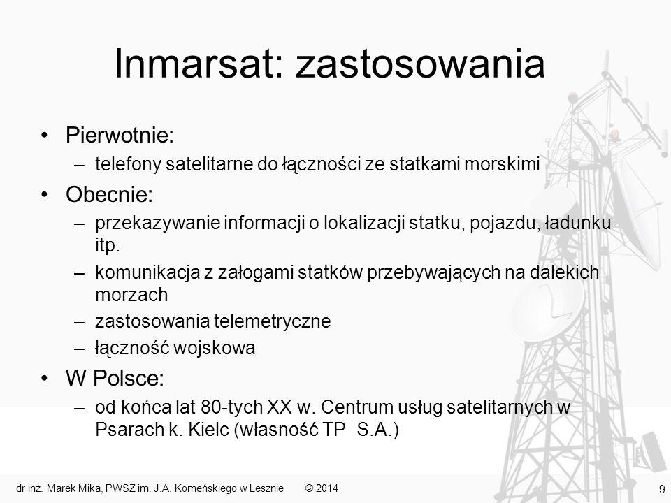 Inmarsat: zastosowania