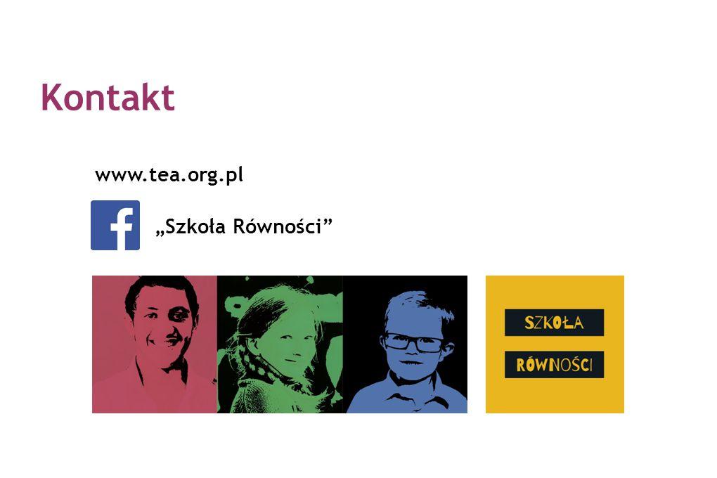"""Kontakt www.tea.org.pl """"Szkoła Równości"""