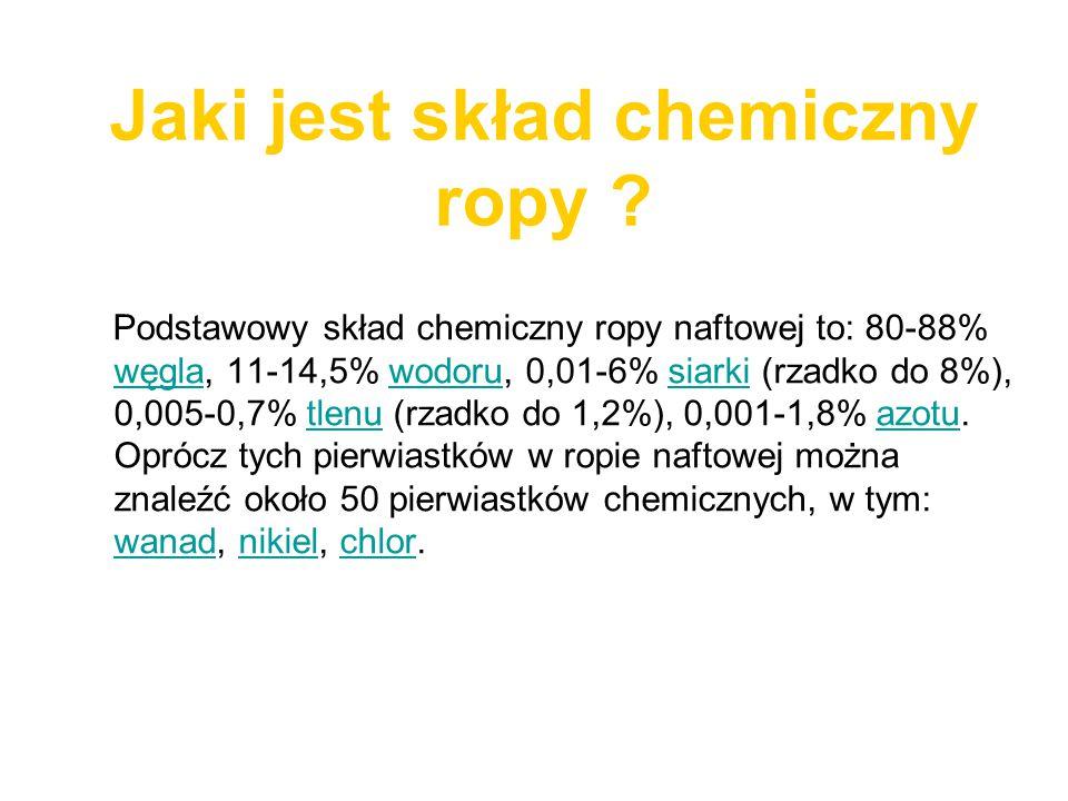 Jaki jest skład chemiczny ropy