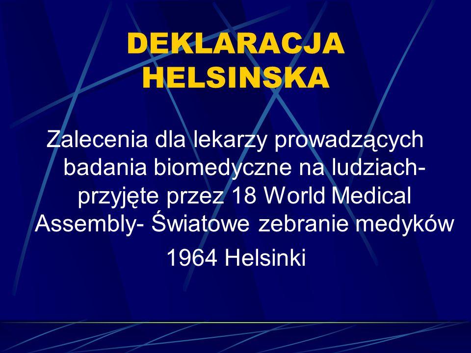 DEKLARACJA HELSINSKA