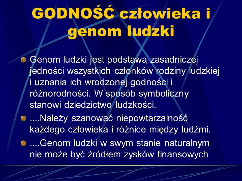 GODNOŚĆ człowieka i genom ludzki