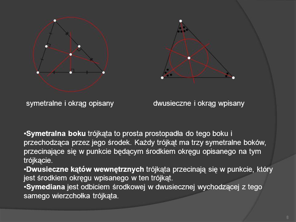 symetralne i okrąg opisany
