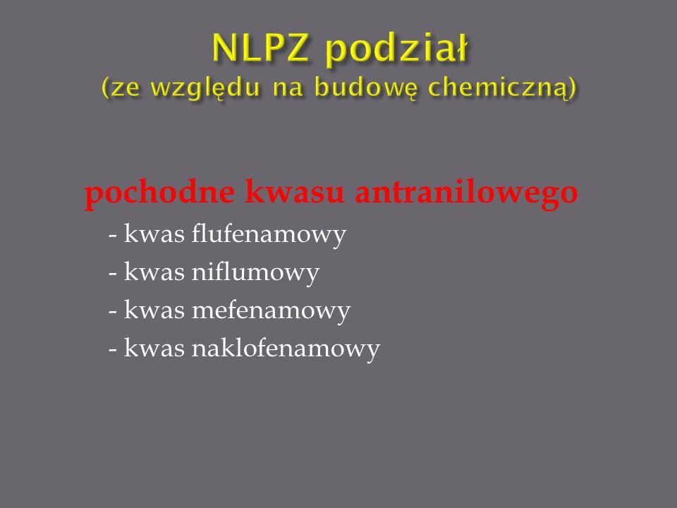NLPZ podział (ze względu na budowę chemiczną)