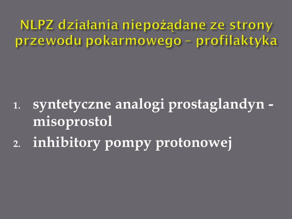syntetyczne analogi prostaglandyn - misoprostol