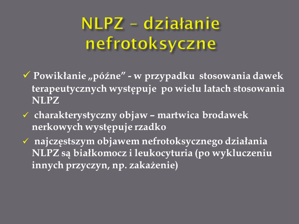 NLPZ – działanie nefrotoksyczne
