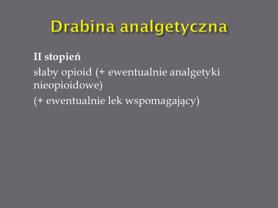 Drabina analgetyczna II stopień
