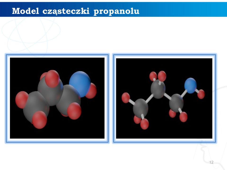 Model cząsteczki propanolu