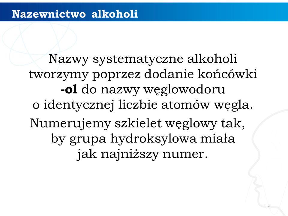 Nazewnictwo alkoholi