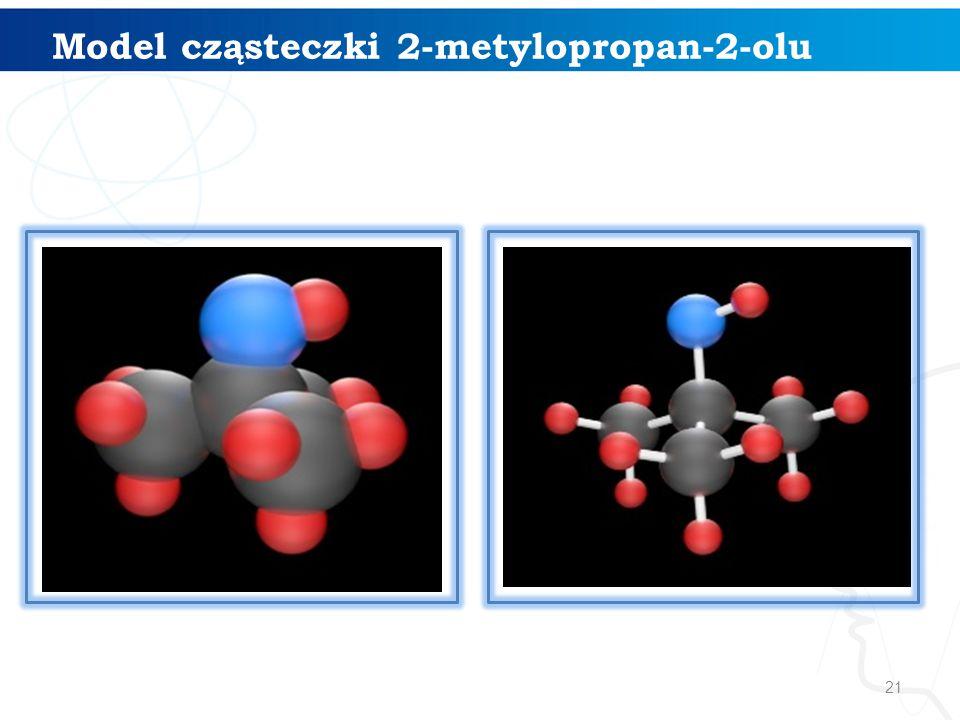Model cząsteczki 2-metylopropan-2-olu