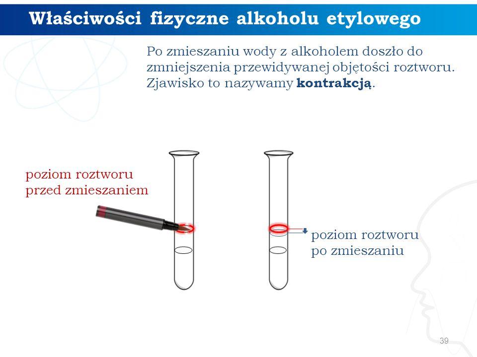 Właściwości fizyczne alkoholu etylowego