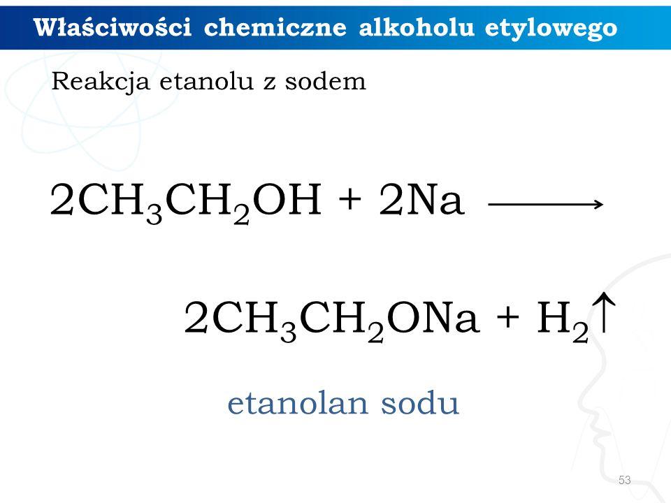 Reakcja etanolu z sodem