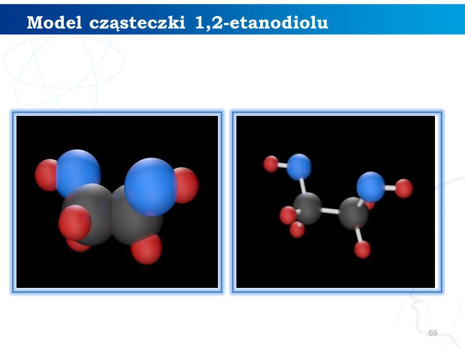 Model cząsteczki 1,2-etanodiolu