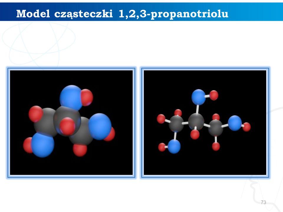 Model cząsteczki 1,2,3-propanotriolu