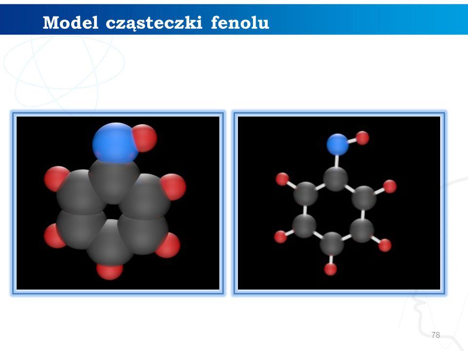 Model cząsteczki fenolu