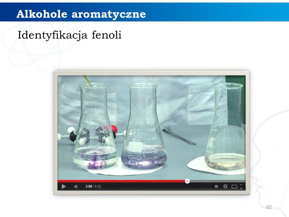 Alkohole aromatyczne Identyfikacja fenoli