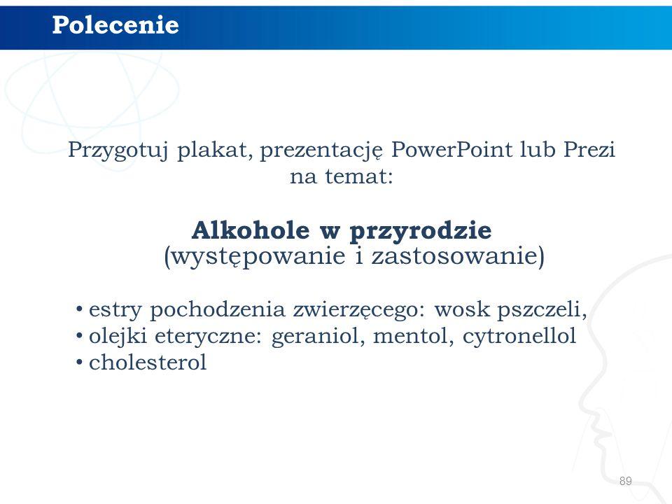 Alkohole w przyrodzie (występowanie i zastosowanie)