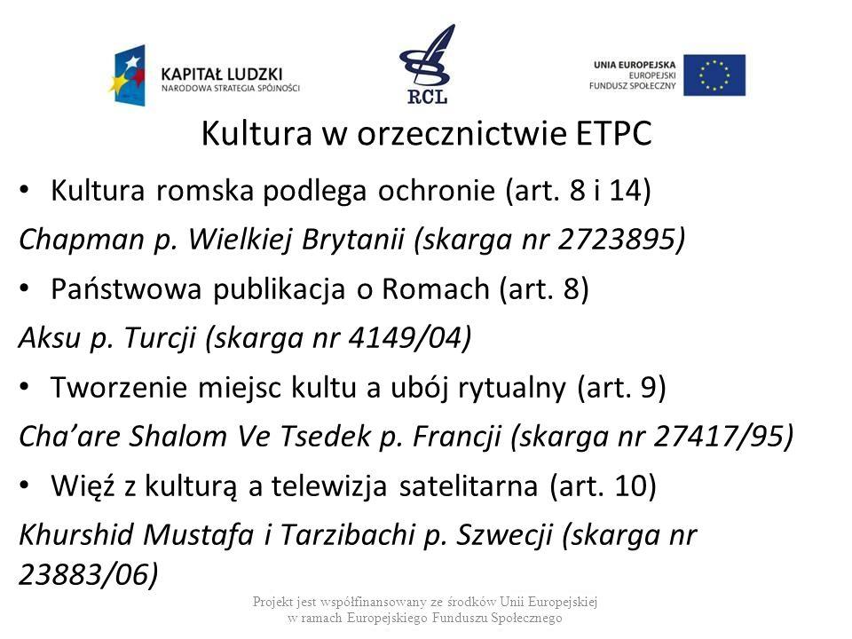 Kultura w orzecznictwie ETPC