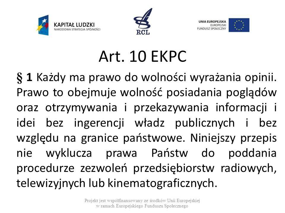 Art. 10 EKPC