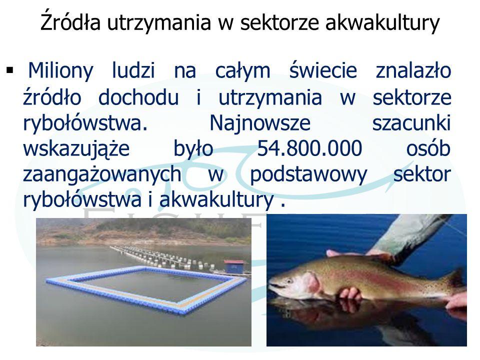 Źródła utrzymania w sektorze akwakultury