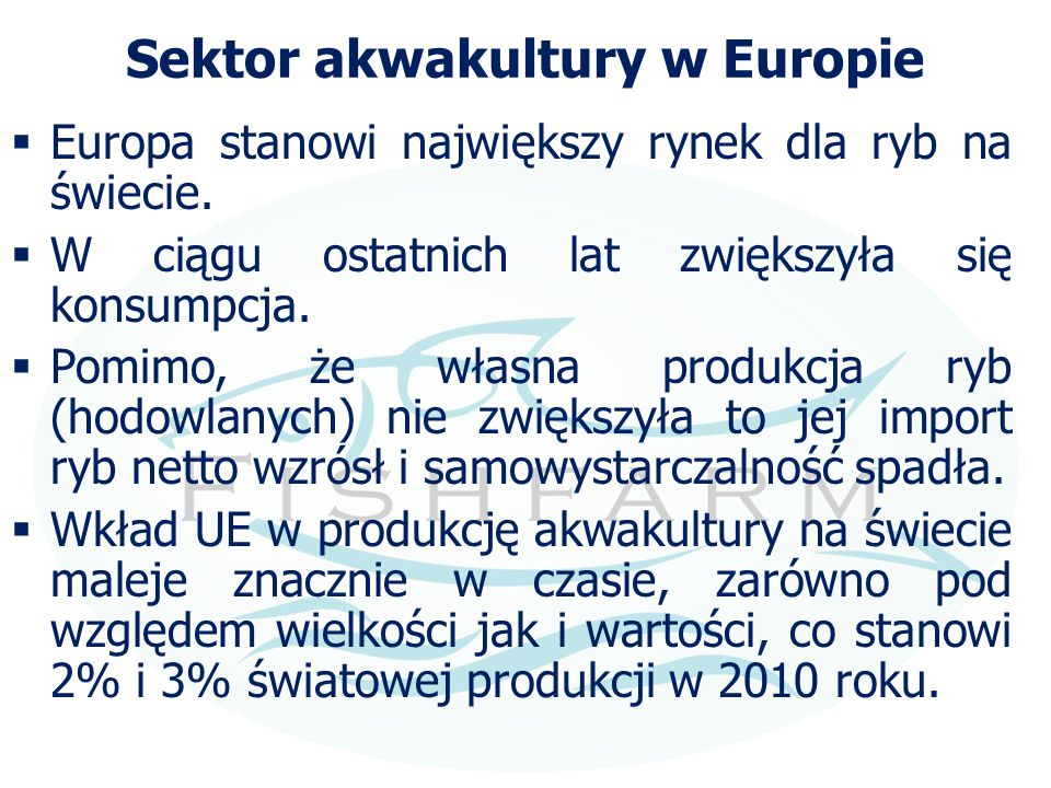 Sektor akwakultury w Europie