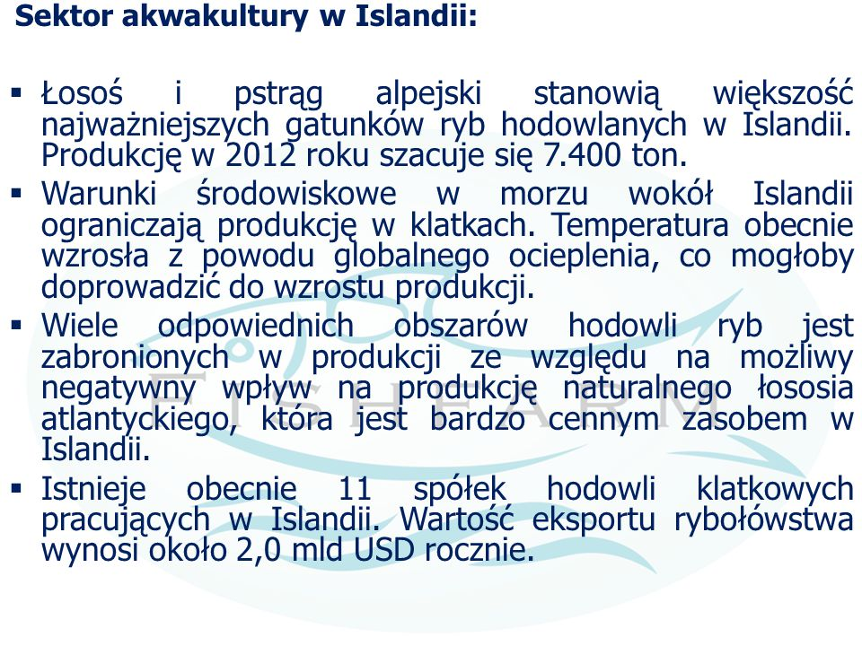 Sektor akwakultury w Islandii: