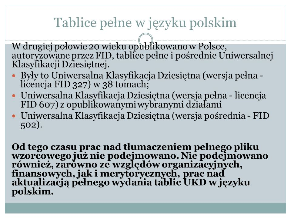 Tablice pełne w języku polskim