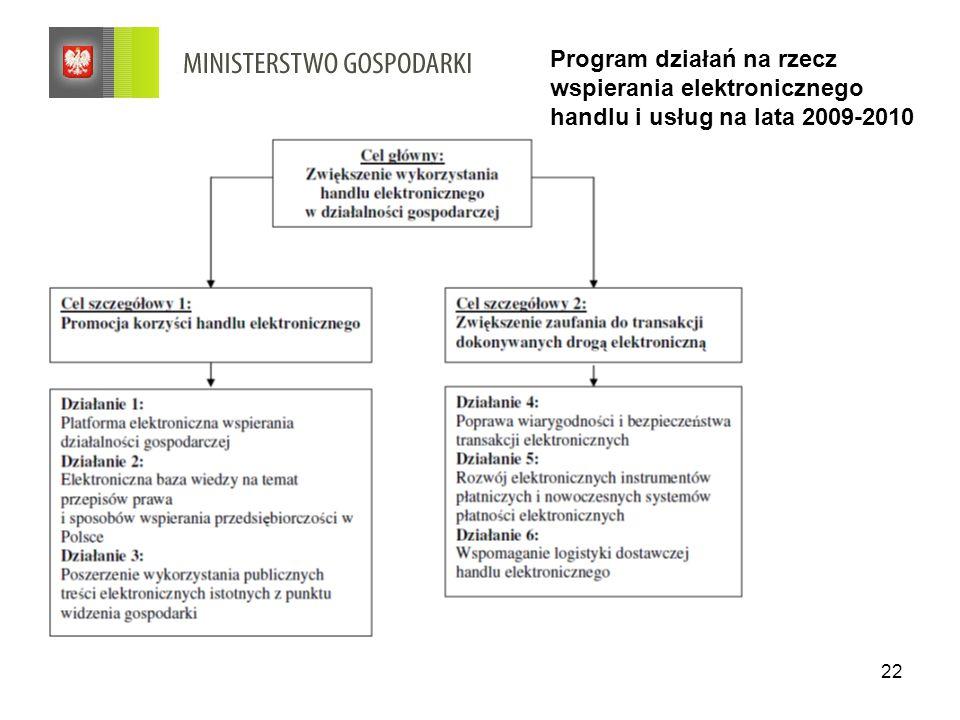 Program działań na rzecz wspierania elektronicznego handlu i usług na lata 2009-2010