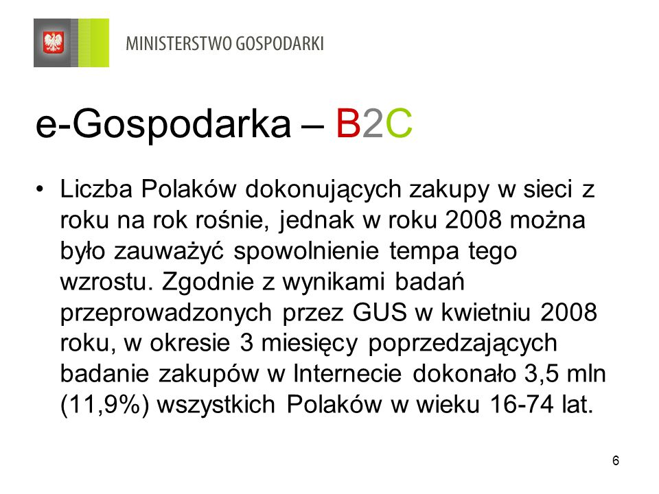 e-Gospodarka – B2C