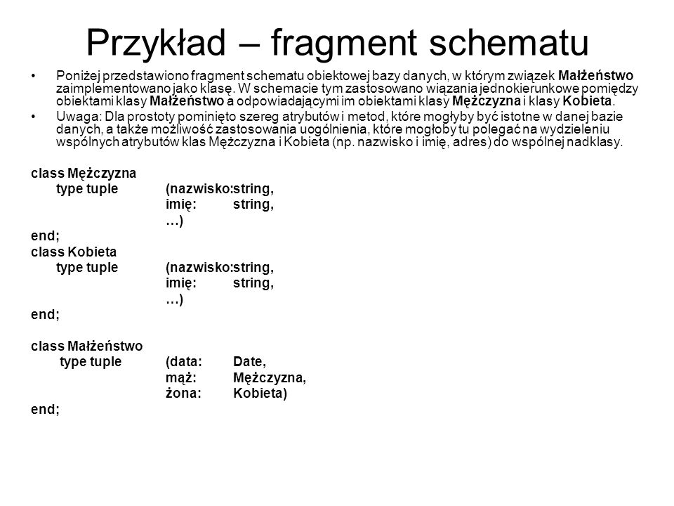 Przykład – fragment schematu