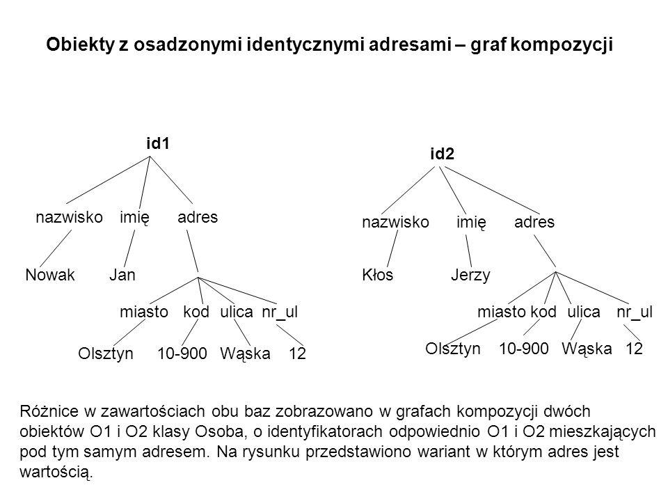 Obiekty z osadzonymi identycznymi adresami – graf kompozycji