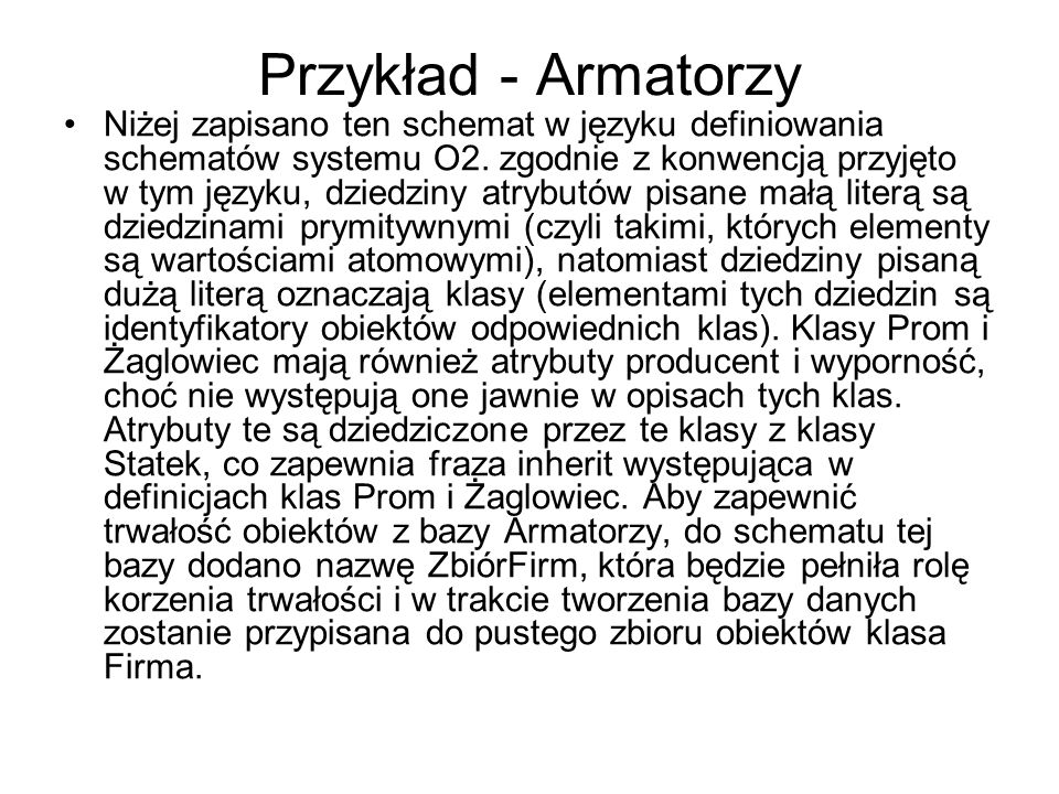 Przykład - Armatorzy