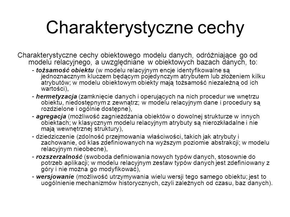Charakterystyczne cechy
