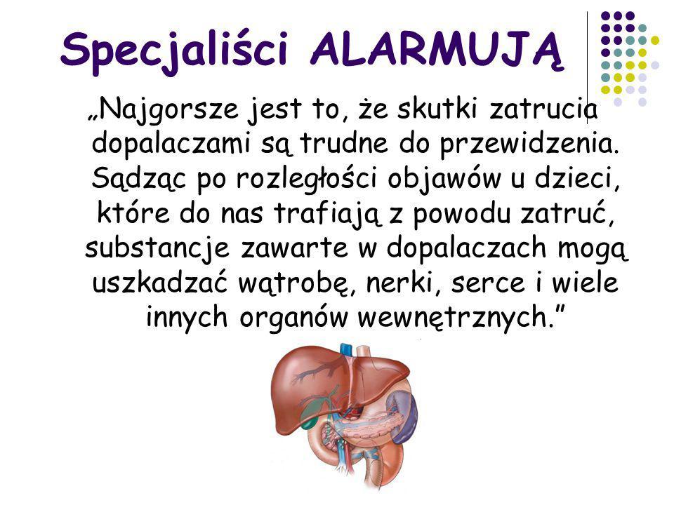 Specjaliści ALARMUJĄ